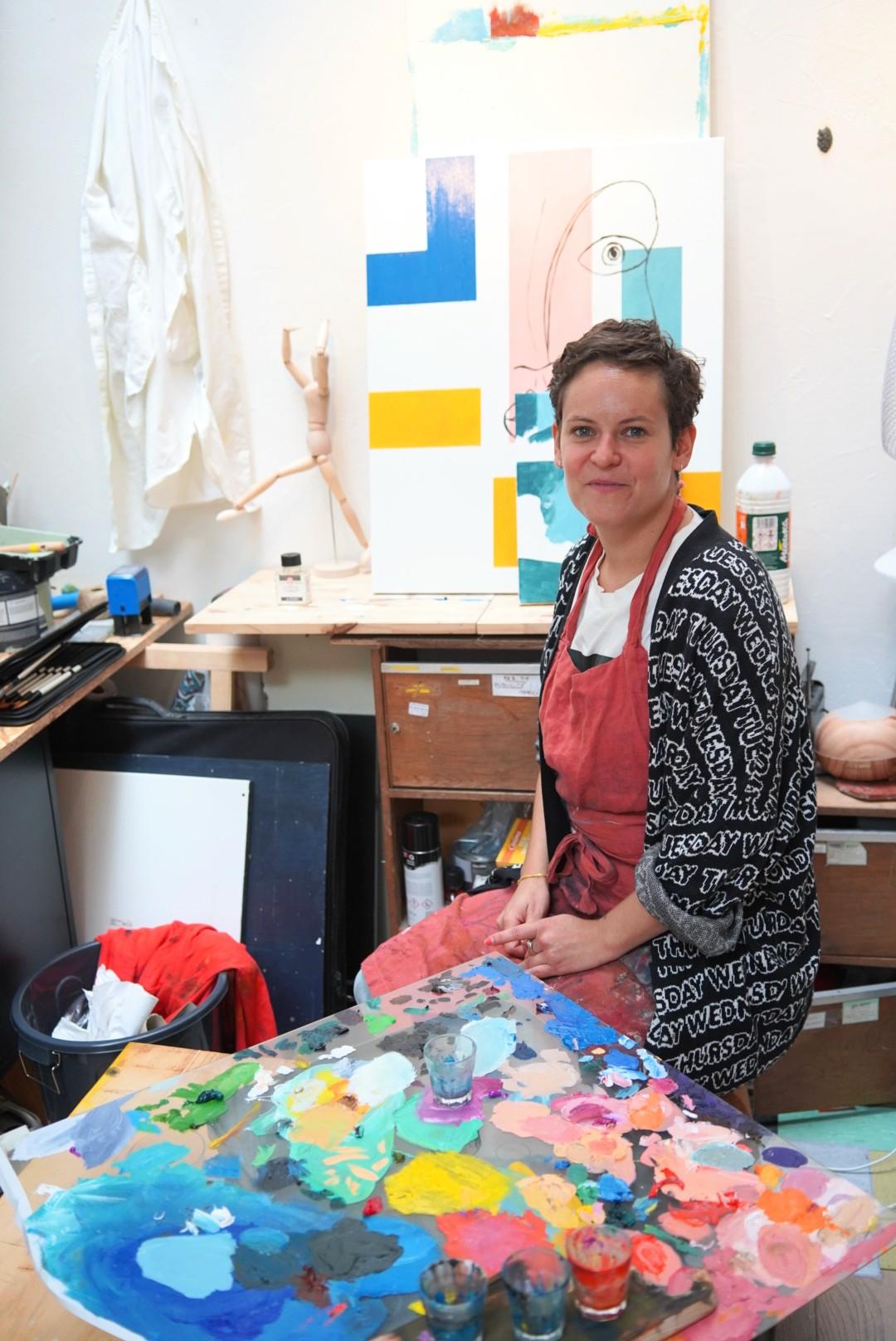 Pauline Katherine, artiste peintre installée rue Ligner