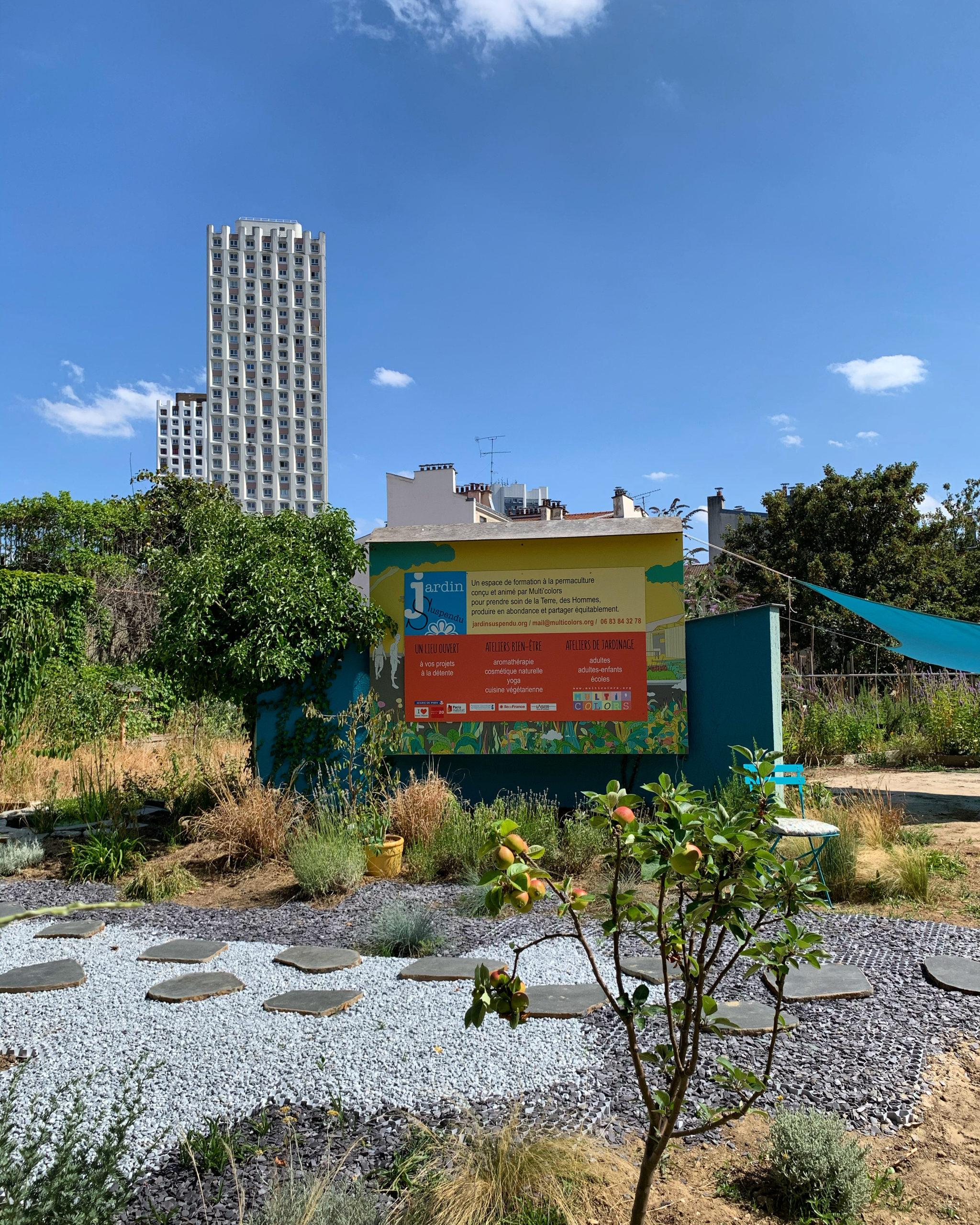"""Le """"jardin suspendu"""", un lieu pour se connecter à la nature dans le 20e"""