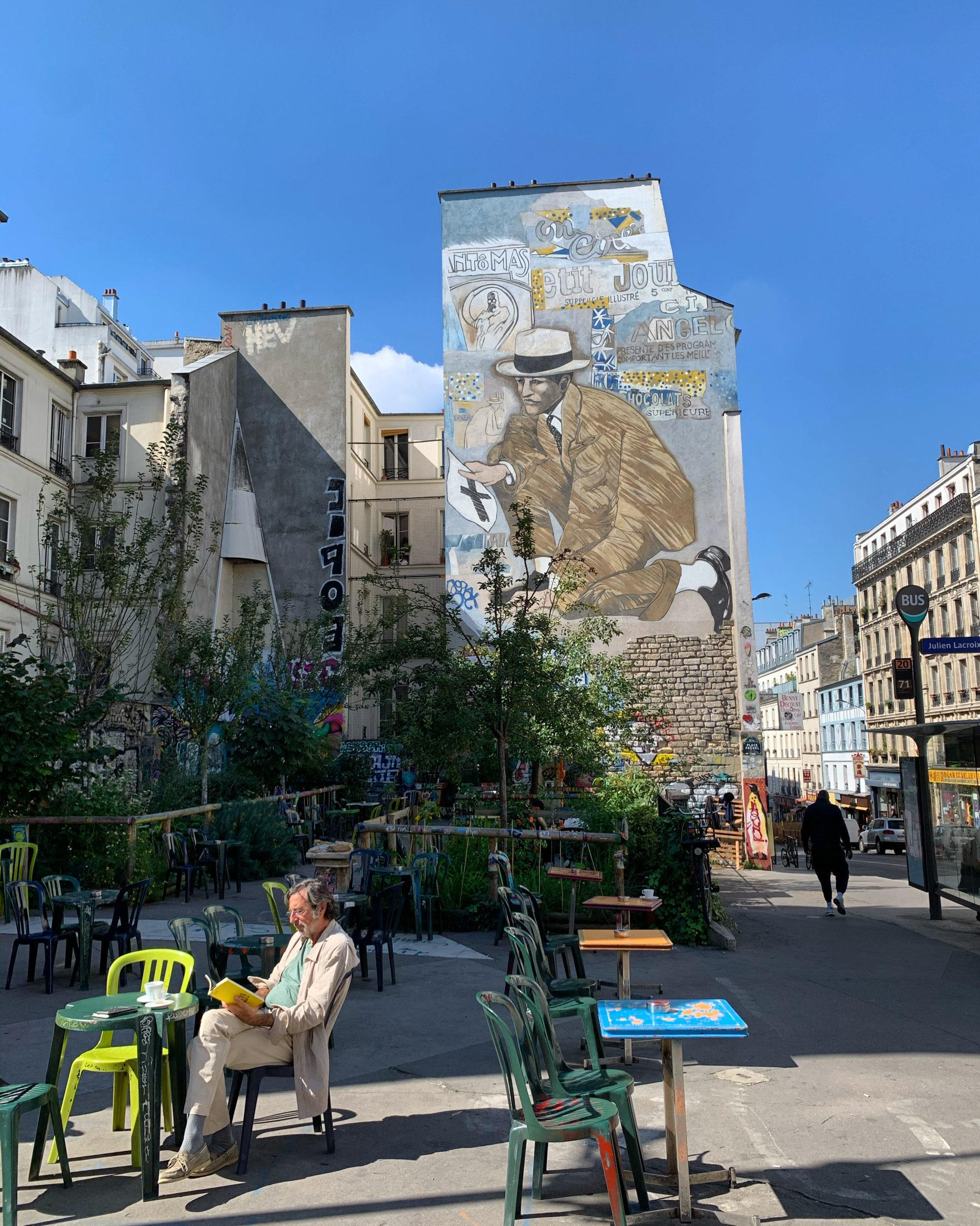 """La petite histoire de la Place Fréhel, """"dent creuse"""" de la rue de Belleville"""