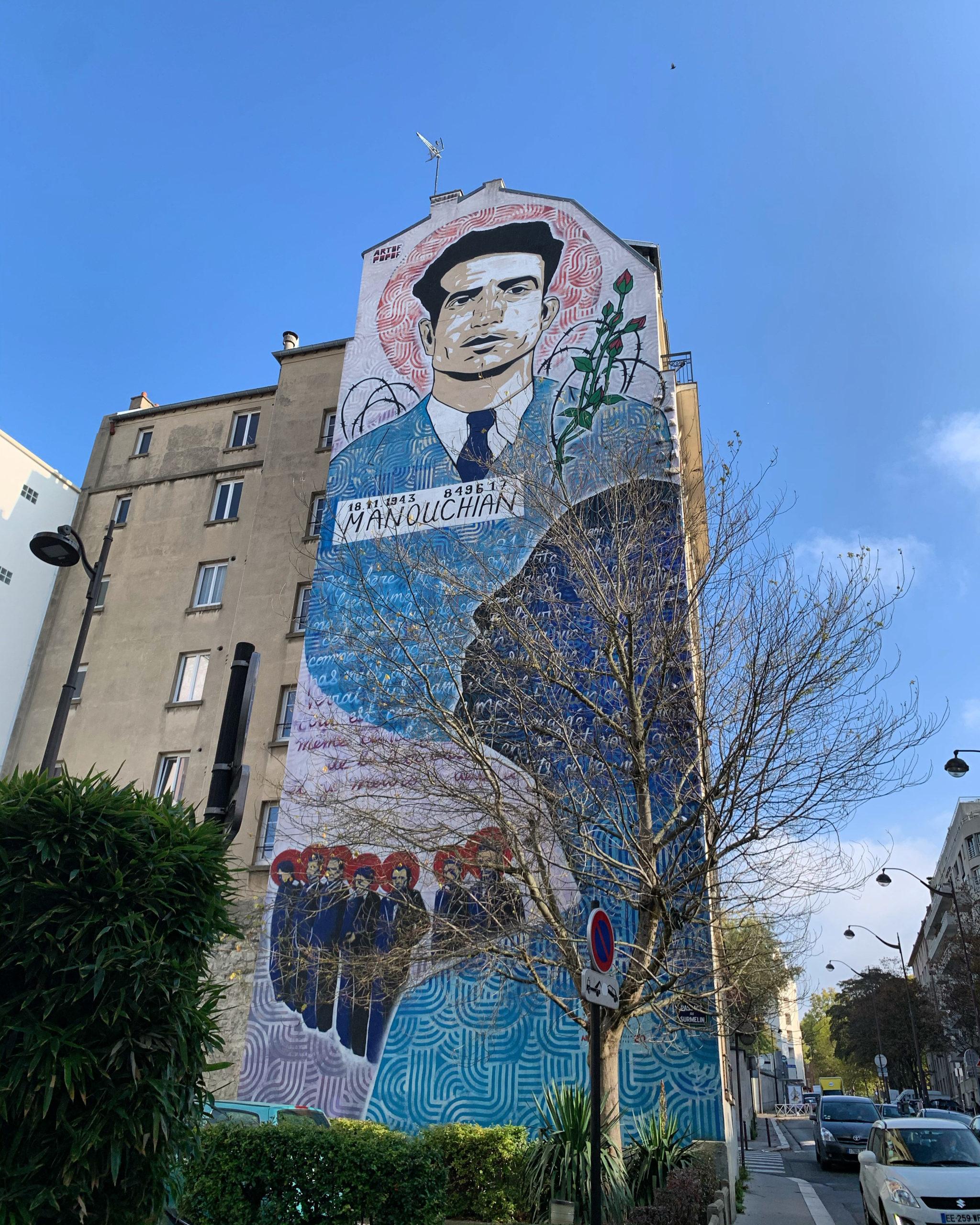 Ode au courage : le mur peint en hommage au résistant Missak Manouchian