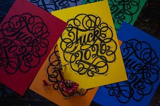 Fuck 2020 : la carte de voeux d'une lettering artiste du 20e arrondissement