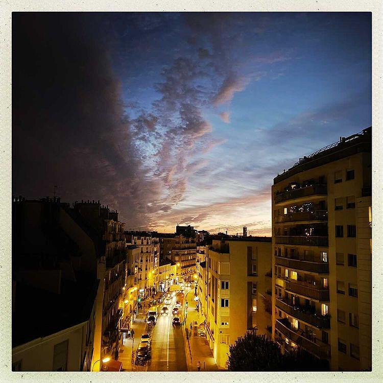 Vue du 20e arrondissement : la rue de Bagnolet