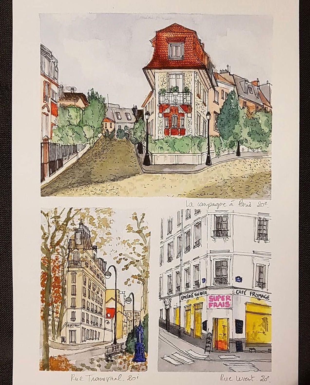 Le 20e en aquarelle : les jolis croquis d'Anne, qui vit à Télégraphe