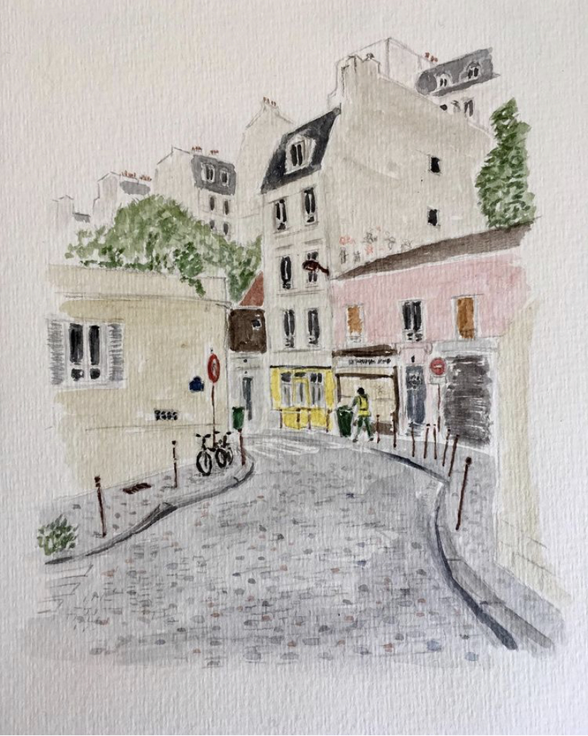 Paris Village : les rues du 20e esquissées par Grégoire Bénabent