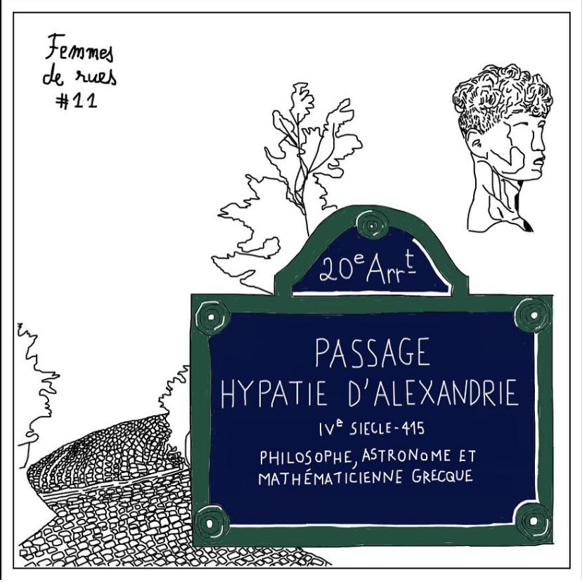 Nom de rues dans le 20e : la petite histoire d'Hypathie d'Alexandrie