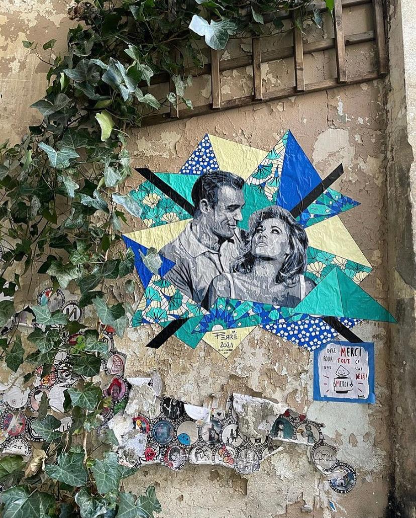 Vintage lovers : des couples mythiques du 7e art sur les murs de Belleville