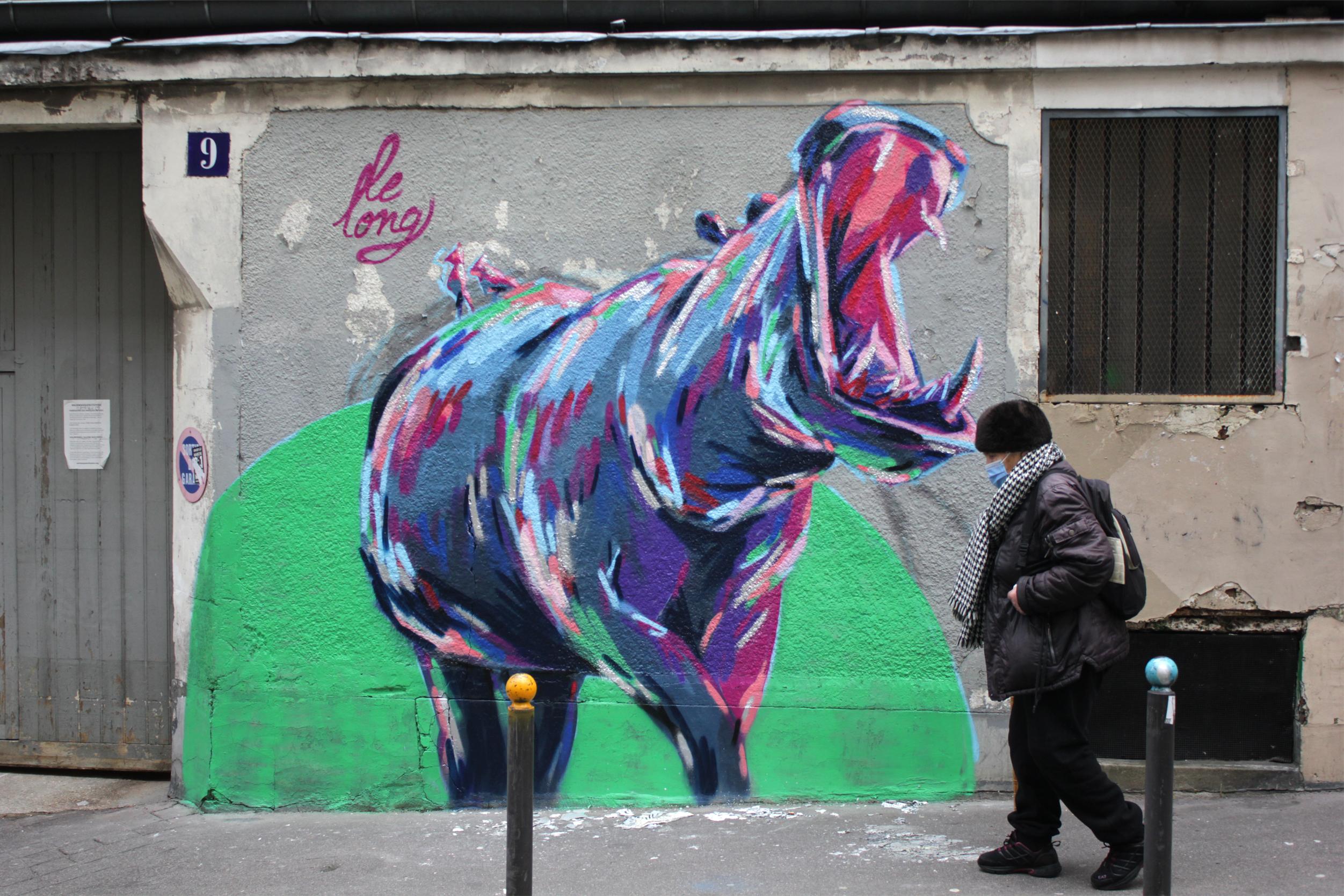 Street art : les animaux de Le Long marquent leur territoire dans le 20e
