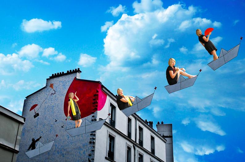 Autoportraits multiples : Juliette Chenais prend la pose dans le 20e arrondissement