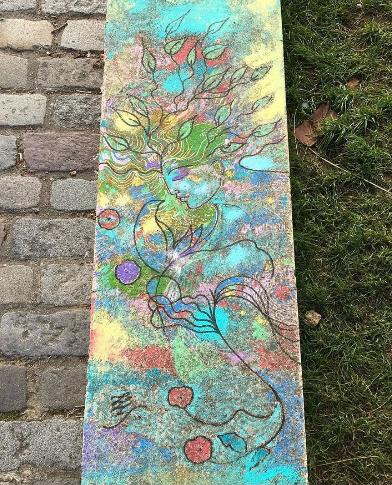 Street art : l'univers bucolique de Léa Lydie au Parc de Belleville