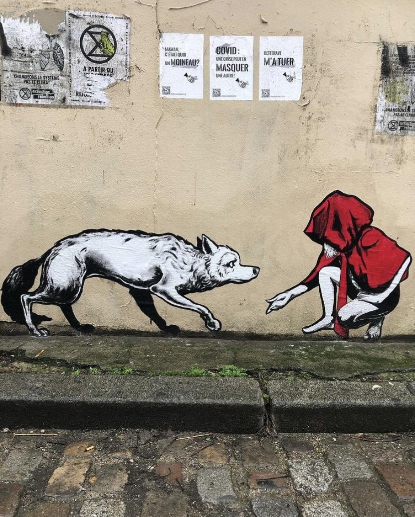 Street art : les loups sont entrés dans Paris