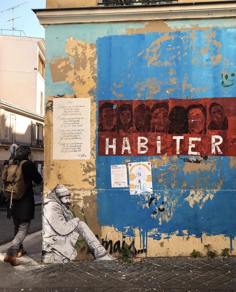 """""""La Cloche"""", le projet street art qui rend visibles les gens de la rue"""