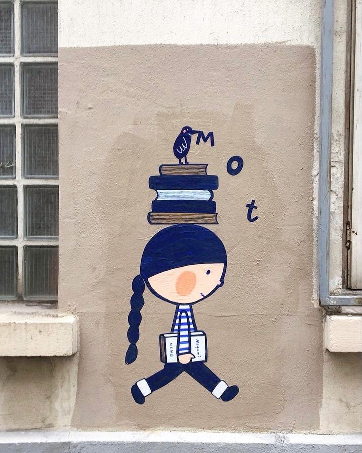 L'univers doux et enfantin de Megumi Nemo, street artiste japonaise