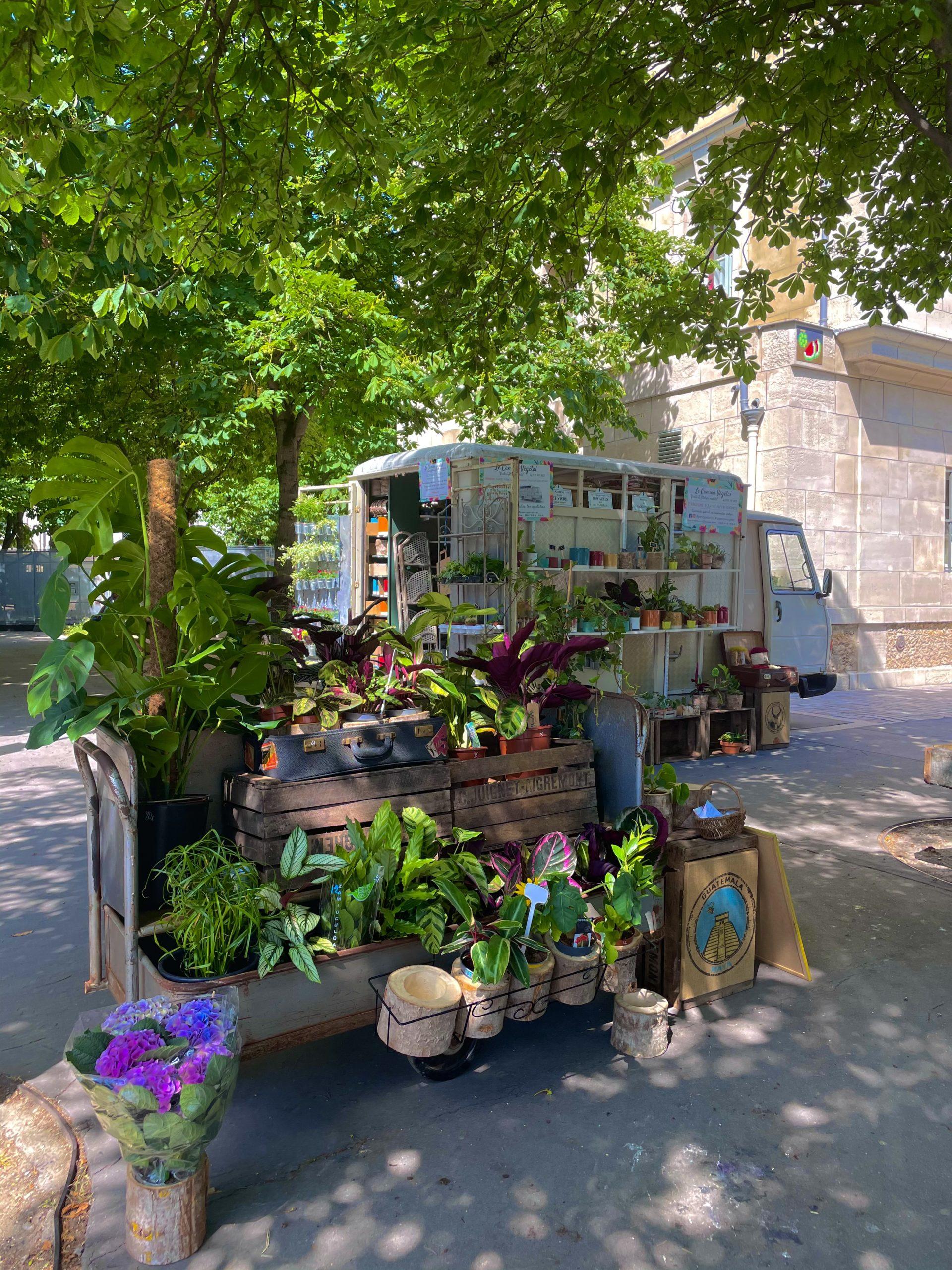 Le camion végétal : un flower truck made in 20e