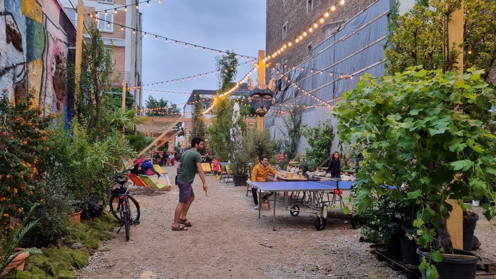 Terrasse éphémère à tester : le jardin du 88 rue de Ménilmontant