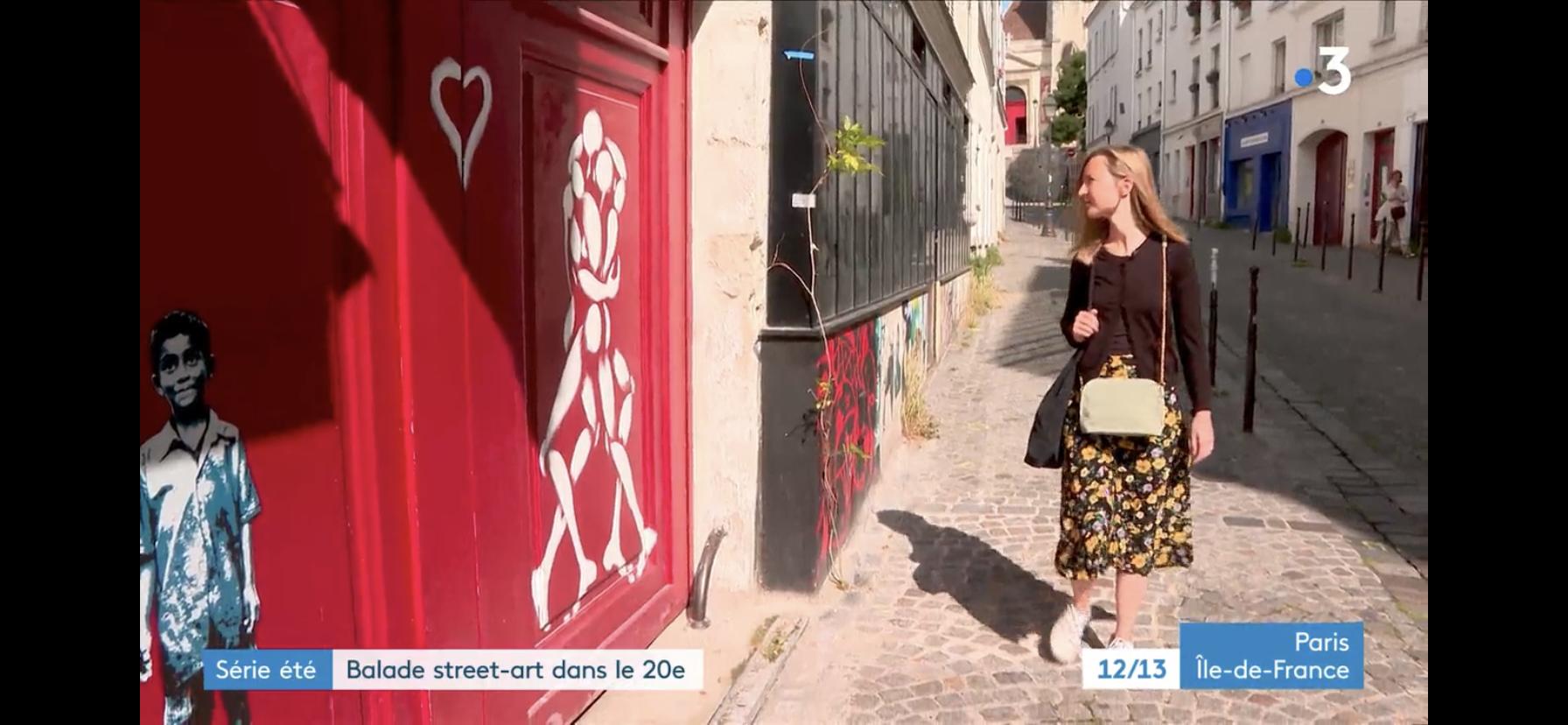 Balades street-art dans le 20e arrondissement, avec France 3 Ile-de-France