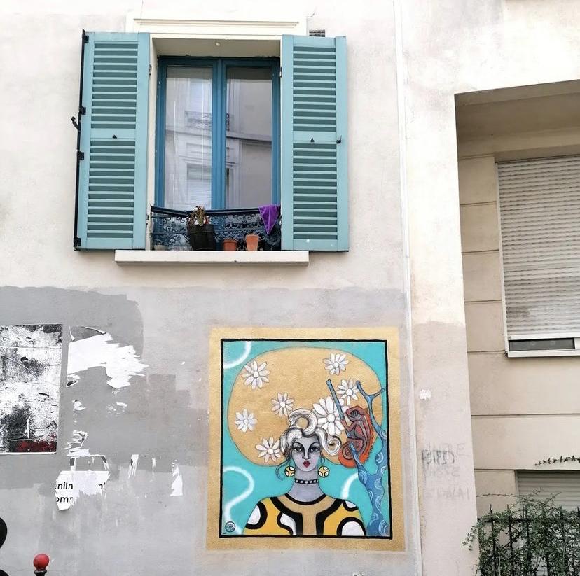 Street art : Demoiselle MM nous créé des voisines dans le 20e