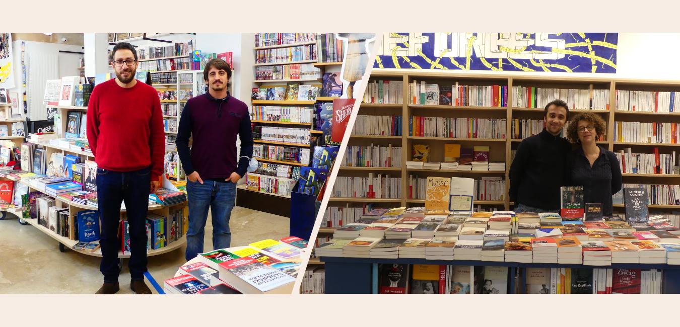 """""""La Croisée des mondes""""et """"La Bicyclette Bleue"""" : deux jeunes librairies du 20e"""
